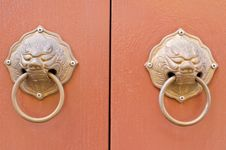 Free Double Doorknob On Background Royalty Free Stock Photos - 30941548
