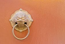Free Doorknob On Background Stock Images - 30941654