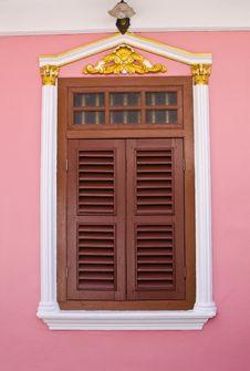 Brown Wood Window Stock Photos