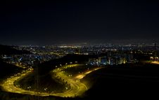 Citylights - A View From Izmir Stock Images