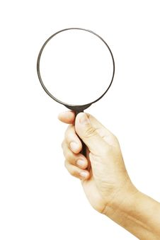 Free Magnifying Glass Royalty Free Stock Photos - 30944778