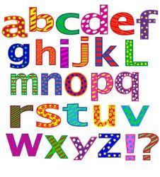 Free English Alphabet. Letters. Stock Photo - 30944920