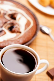 Free Breakfast. Coffee And Cake. Stock Image - 30947621