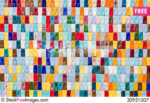 Free Colored Tiles - Textured Background Royalty Free Stock Photography - 30951007