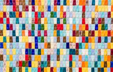 Colored Tiles - Textured Background Royalty Free Stock Photography