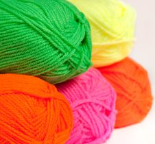 Free Multicolored Wool Rolled Into Balls Royalty Free Stock Photo - 30951405