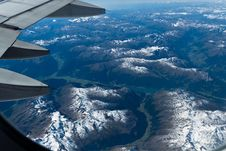 Free Flight Over The Alps Stock Photos - 30957243