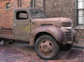 Free Old Rusty Truck In A Brick Alley Royalty Free Stock Image - 30962266