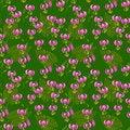 Free Seamless Pattern With Pink Lilium Martagon Royalty Free Stock Photo - 30965405