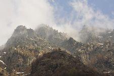Free Mountain Fog, Italian Alps Stock Images - 30961424