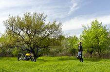Free Resting Biker 2 Stock Photo - 30963600