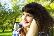 Free Beautiful Girl In A Park Stock Image - 30969521