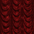 Free Red Curtain With Heart Pattern Stock Images - 30977664