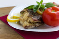 Free Served Grilled Fish Stock Photography - 30979152