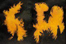 Free Grunge Black And Yellow Painted Metal Stock Image - 30970131