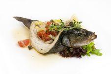 Free Baked Sea Bass Stock Photo - 30970750