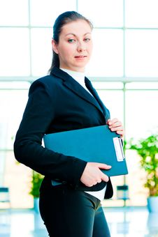 Free A Smiling Girl Holding A Manager Office Folder Stock Images - 30972044