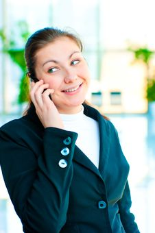 Free Young Happy Business Woman Talking On The Phone Stock Image - 30972381