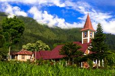 Catholic Church Samosir Island. Stock Image
