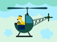 Free Chicken Helicopter Royalty Free Stock Images - 30975569