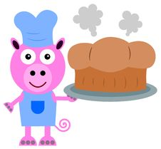 Free Pig Bakes Royalty Free Stock Photography - 30975597