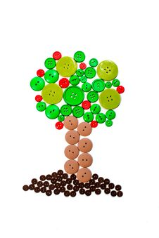 Free Button Tree Royalty Free Stock Photo - 30975955