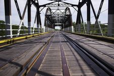 Old Railway On Bridge Royalty Free Stock Photography