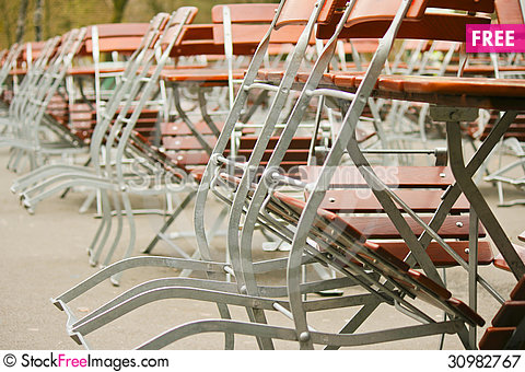 Free Chairs And Tables Royalty Free Stock Photography - 30982767