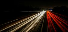 Free Standing In Car On Side Of The Road At Night Stock Photos - 30982313