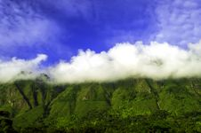 Caught Clouds, Samosir Island. Royalty Free Stock Photo