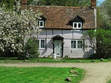 Timber Framed English Rural Cottage Stock Photo