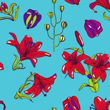 Free Floral Pattern Stock Photo - 30990290