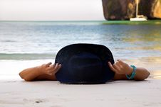 Free The Girl On A Beach Stock Image - 30990781