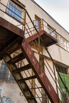 Free Metal Staircase Rising Up The Old Building Royalty Free Stock Photo - 30994335