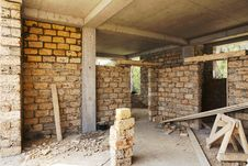 Building House Of Concrete Frame Royalty Free Stock Images