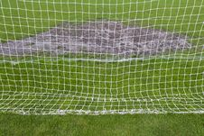 Free Goalmouth On The Football Field Stock Photo - 30996880