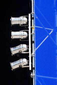 Free Silver Spotlights Mounted On Shift Gate Stock Photo - 30996980