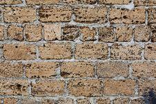 Free Shell Rock Concrete Blocks Wall Stock Photo - 30997040