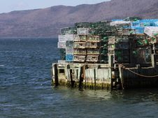 Free Stacked Lobster Traps Stock Photo - 30998080