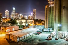 Free Charlotte City Skyline Night Scene Royalty Free Stock Photo - 30998405