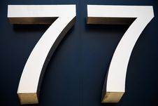 Free Digit Number 77 Royalty Free Stock Photos - 30998618