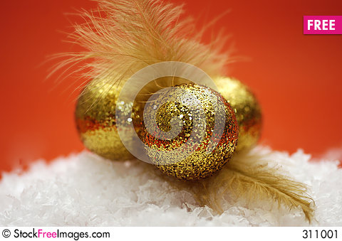 Free Golden Decorations Stock Image - 311001