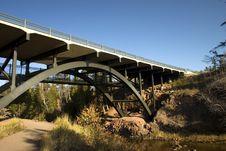 Blue Sky And Bridge Stock Photography