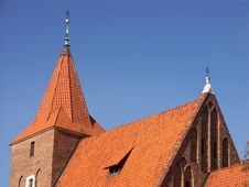 Old Church With Red Roof Royalty Free Stock Photo