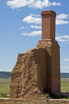 Free Chimney And Adobe Wall Royalty Free Stock Image - 310586
