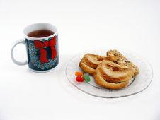 Free Tea And Snacks Royalty Free Stock Photo - 311155