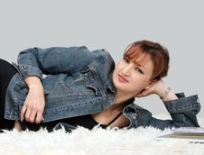 Casual Woman Relaxing Royalty Free Stock Images