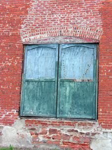 Free Green Doors, Red Bricks Stock Photos - 312193
