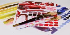 Free Brushes And Primary Colors Royalty Free Stock Image - 312536