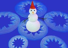 Free 3D-Snowman On Blue Stock Photo - 313360